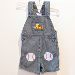 2/$20 Winnie The Pooh short overalls 24 Month